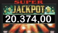 Vinto jackpot di sala di 20.374,00